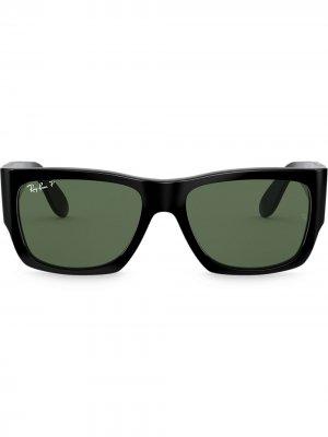 Солнцезащитные очки Nomad Wayfarer Ray-Ban. Цвет: черный