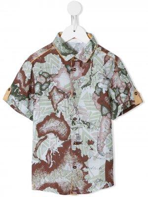 Рубашка с принтом Alviero Martini Kids. Цвет: зеленый