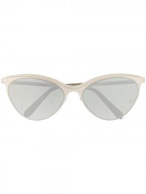 Солнцезащитные очки Paris Philipp Plein. Цвет: серебристый