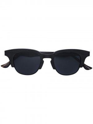 Солнцезащитные очки трапециевидной формы Rigards. Цвет: черный