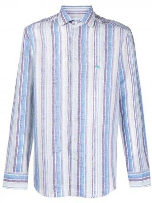 Полосатая рубашка на пуговицах Etro. Цвет: синий