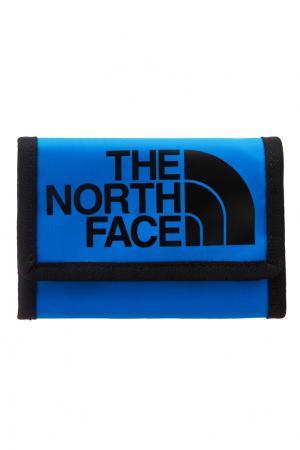 Синий бумажник с логотипом The North Face. Цвет: синий