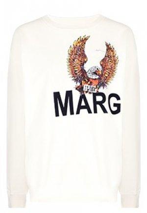 Свитшот MM6 Maison Margiela. Цвет: белый