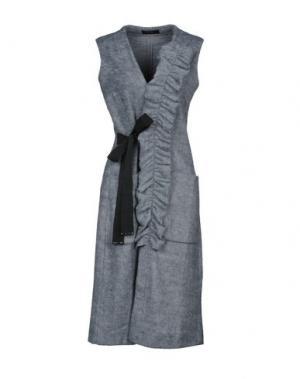 Пальто VDP CLUB. Цвет: серый