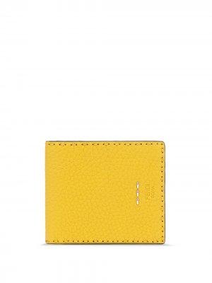 Складной кошелек Fendi. Цвет: желтый