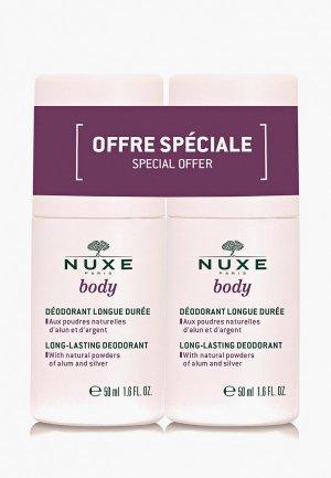 Дезодорант Nuxe шариковый длительного действия, набор, BODY, 2 x 50 мл. Цвет: прозрачный