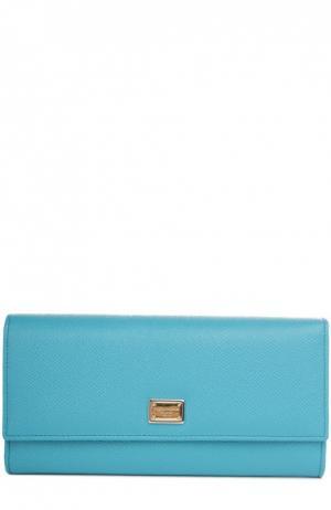 Кожаный кошелек с тиснением Dauphine Dolce & Gabbana. Цвет: голубой
