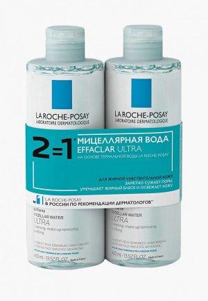 Набор для ухода за лицом La Roche-Posay мицеллярной воды ULTRA REACTIVE, 800 мл. Цвет: бирюзовый