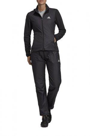 Ветровка W Windfleece J adidas. Цвет: черный