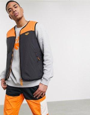 Черный/оранжевый утепленный жилет -Черный цвет Hi-Tec