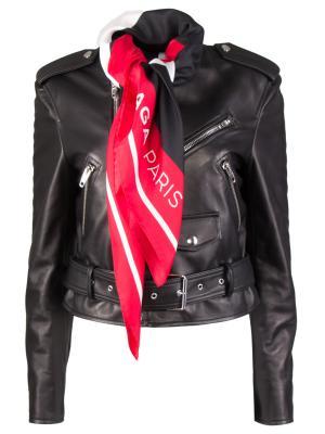 Кожаная куртка BALENCIAGA. Цвет: черный