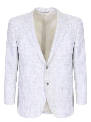 Пиджак из смесовой шерсти CANALI. Цвет: бежевый