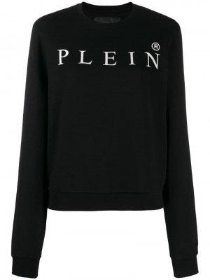Джемпер с логотипом Philipp Plein. Цвет: черный