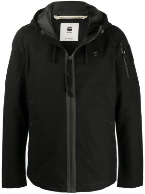 Hooded windbreaker jacket G-Star RAW. Цвет: черный