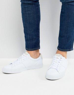 Белые парусиновые кроссовки Sayer-Белый Polo Ralph Lauren