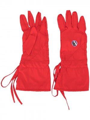 Перчатки с принтом Apollo Raf Simons. Цвет: красный