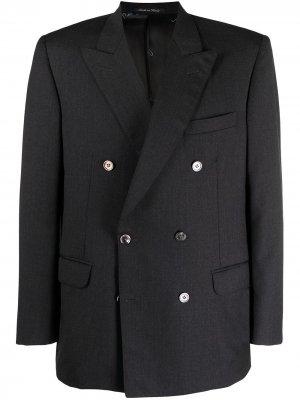 Двубортный пиджак 1980-х годов с заостренными лацканами Pierre Cardin Pre-Owned. Цвет: серый
