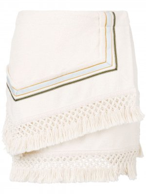 Асимметричная юбка-мини 3.1 Phillip Lim. Цвет: нейтральные цвета