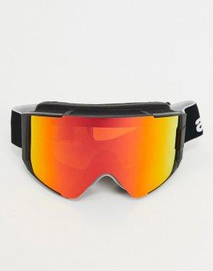 Черные горнолыжные очки с запасным стеклом -Черный Anon