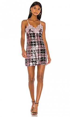 Мини платье ansley NBD. Цвет: pink,black