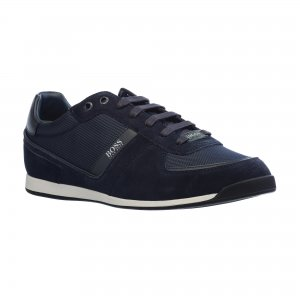 Кроссовки Maze Low Profile Sneakers in Mix Materials HUGO BOSS