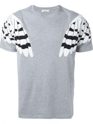 Футболки и жилеты Valentino. Цвет: серый