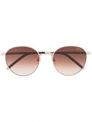 Солнцезащитные очки Stevie с затемненными линзами Mulberry. Цвет: коричневый