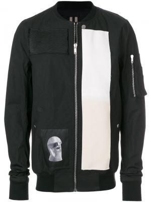 Куртка-бомбер с принтом Rick Owens DRKSHDW