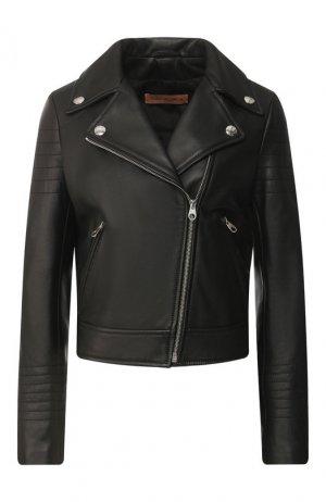Кожаная куртка Yves Salomon. Цвет: черный
