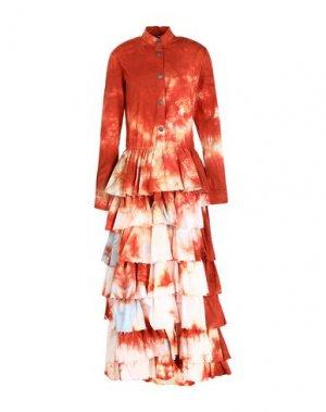 Длинное платье BAD SPIRIT. Цвет: ржаво-коричневый