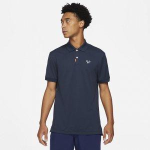 Мужская рубашка-поло с плотной посадкой  Polo Rafa - Синий Nike