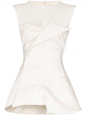 Tuxedo corseted sleeveless top A.W.A.K.E. Mode. Цвет: белый