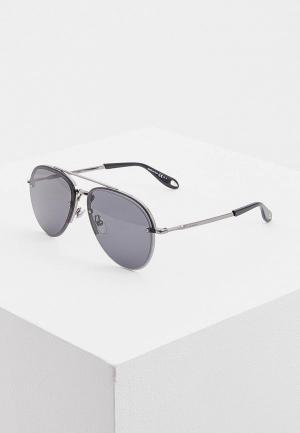 Очки солнцезащитные Givenchy GI007DMCWLY8. Цвет: серый
