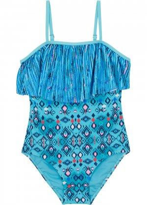 Слитный купальник для девочки bonprix. Цвет: синий