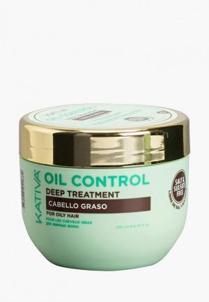 Маска для волос Kativa OIL CONTROL Контроль интенсивный уход жирных 250мл. Цвет: белый
