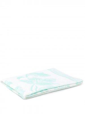 Пляжное полотенце с цветочным принтом Mm6 Maison Margiela. Цвет: белый