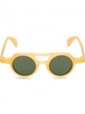 Солнцезащитные очки Bruto Monocle Eyewear. Цвет: жёлтый и оранжевый
