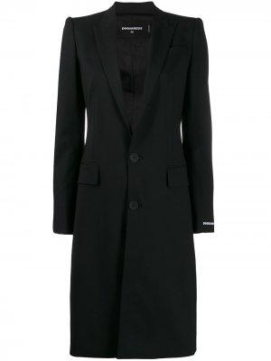 Пальто-блейзер строгого кроя Dsquared2. Цвет: черный