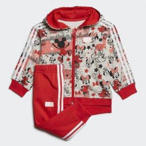 Спортивный костюм Minnie Mouse Performance adidas. Цвет: красный
