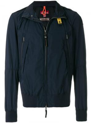Приталенная куртка-бомбер Parajumpers. Цвет: синий