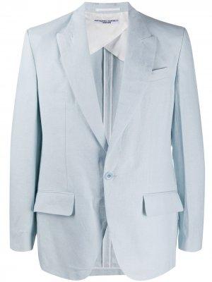 Однобортный пиджак Katharine Hamnett London. Цвет: синий