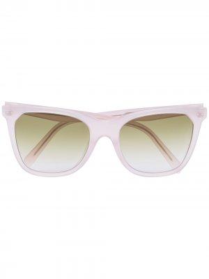 Солнцезащитные очки в оправе кошачий глаз Celine Eyewear. Цвет: розовый