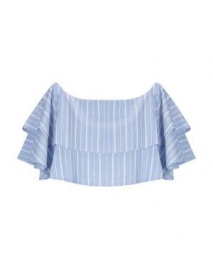 Блузка WEILI ZHENG. Цвет: небесно-голубой