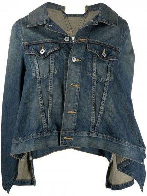 Джинсовая куртка с рукавами кап Junya Watanabe. Цвет: синий