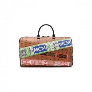 Дорожная сумка Traveler MCM. Цвет: коричневый