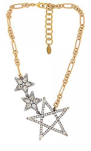 Ожерелье parker Elizabeth Cole. Цвет: металлический золотой