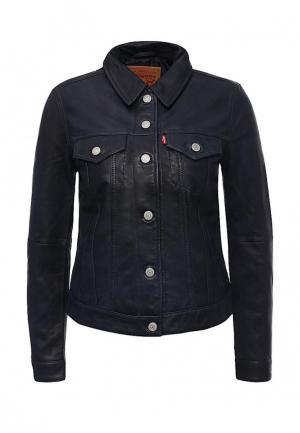 Куртка кожаная Levis® Levi's®. Цвет: синий