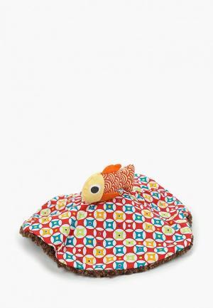 Игрушка мягкая Ebulobo Мишка и Рыбка. Цвет: коричневый