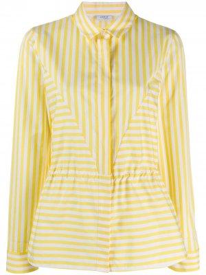 Рубашка в полоску Akris Punto. Цвет: желтый