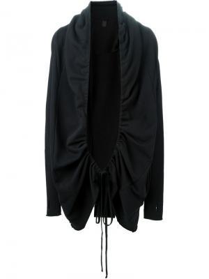 Открытый пиджак со сборкой на шнуровке Thom Krom. Цвет: чёрный